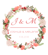 Wedding Wine Label - Floral Wreath