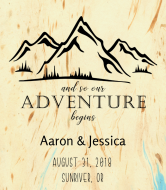 Wedding Wine Label - Mountain Adventure