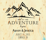 Wedding Beer Label - Mountain Adventure