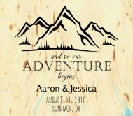 Wedding Beer Label - Mountain Adventure