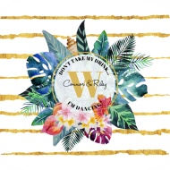 Wedding Drink Coaster - Tropical Flowers