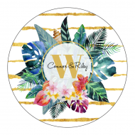 Circle. Wedding Sticker - Tropical Dreams