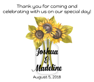 Wedding Beer Label - Sunflower Mason Jar