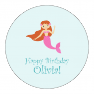 Birthday Sticker - Mermaid Party