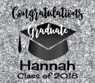 Graduations Beer Label - Graduation Silver Glitter