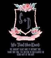 Wedding Wine Label - Wedding Crest
