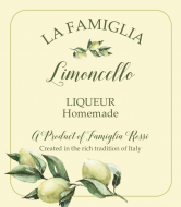 Liquor Label - Italian Limoncello
