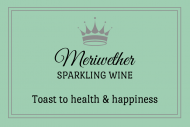 Celebration Mini Wine Label - Crowned