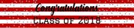 Graduations Water Bottle Label - Graduation Confetti Stripes