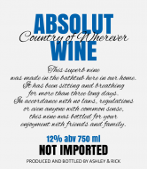 Celebration Wine Label - Absolut