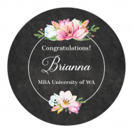 Graduations Sticker - Graduation Bouquet