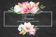 Graduations Mini Wine Label - Graduation Bouquet