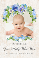 Baby Large Wine Label - Introducing Baby Boy