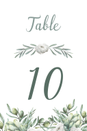 Wedding Table Number Label - Italian Wedding