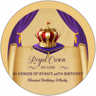 Birthday Mini Liquor Label - Royal Crown