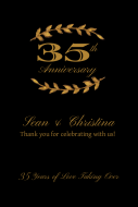 Anniversary Large Wine Label - Gold Laurel