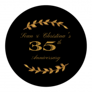 Anniversary Sticker - Gold Laurel