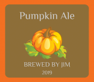Holiday Beer Label - Pumpkin Ale