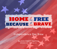 Holiday Beer Label - Home of the Free