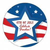 Holiday Sticker - Stars and Stripes