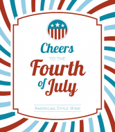 Holiday Wine Label - Cheers to the Fourth