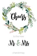 Wedding Large Wine Label - Mr & Mrs Wedding Wreath