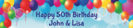 Birthday Water Bottle Label - Balloons & Bubbles