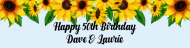 Birthday Custom Label Bottled Water - Sunflower Birthday For Them