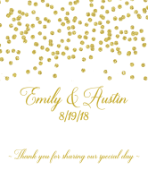 Wedding Champagne Label - Gold Confetti