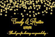 Wedding Mini Champagne Label - Gold Confetti