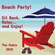 Celebration Sticker - Beach Chair