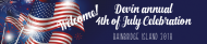 Holiday Water Bottle Label - American Flags & Fireworks