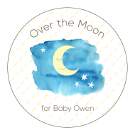 Baby Sticker - Over the Moon
