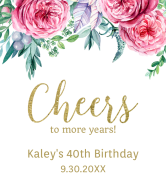 Birthday Champagne Label - Cheers to More Years