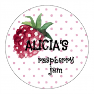 Canning Label - Raspberry Bliss