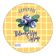 Canning Label - Best Blueberry Syrup
