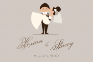 Wedding Mini Wine Label - Happy Couple