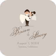 Wedding Drink Coaster - Happy Couple