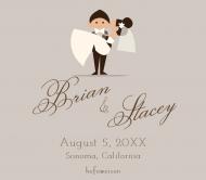 Wedding Beer Label - Happy Couple