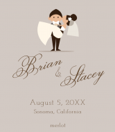 Wedding Wine Label - Happy Couple