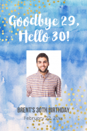 Birthday Large Wine Label - Goodbye Twenties