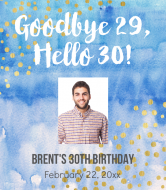Birthday Champagne Label - Goodbye Twenties