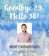 Birthday Wine Label - Goodbye Twenties