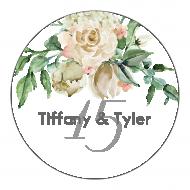 Anniversary Sticker - Ivory Roses