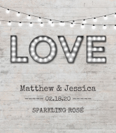 Wedding Champagne Label - Industrial Wedding Chic