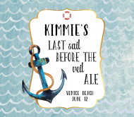 Wedding Beer Label - Last Sail Before the Veil