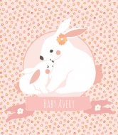 Baby Wine Label - Bunny Love