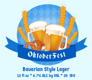 Holiday Beer Can Label - Oktoberfest Beer