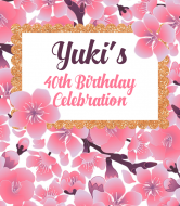 Birthday Champagne Label - Cherry Blossom Frame