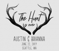 Wedding Beer Label - The Hunt Is Over